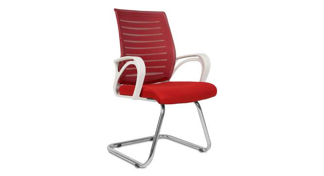 Brandan Office Chair (White Red) by Urban Ladder - Front View Design 1 - 353997