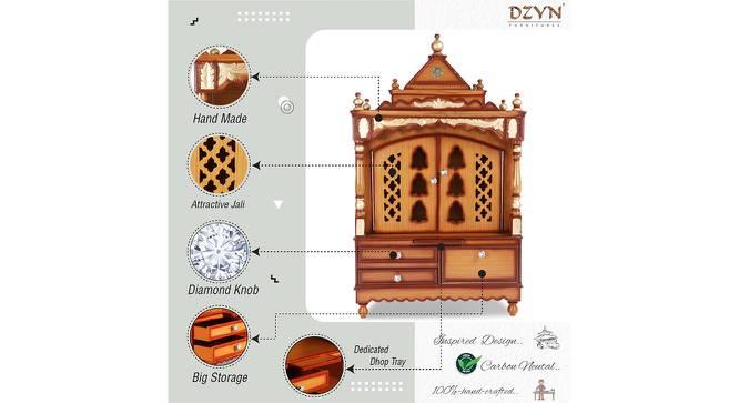 Prajakta Prayer Unit (Teak, Gloss Finish) by Urban Ladder - Cross View Design 1 - 354118