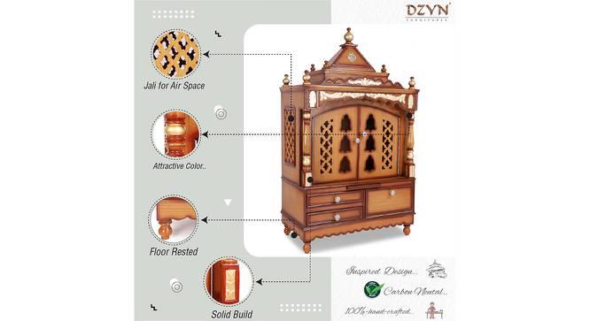 Prajakta Prayer Unit (Teak, Gloss Finish) by Urban Ladder - Front View Design 1 - 354119