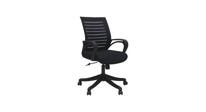 Linsay Ergonomic Chair (Black) by Urban Ladder - -