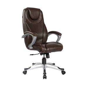 Shauna Executive Chair (Orange & Black) by Urban Ladder - -
