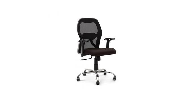 Snowden Ergonomic Chair (Black) by Urban Ladder - -