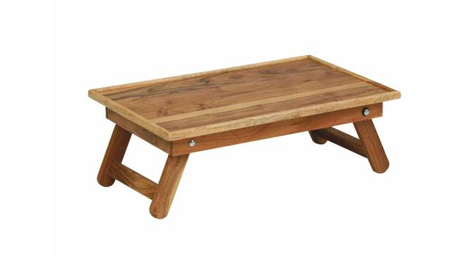 Claire Laptop Table (Natural, Semi Gloss Finish) by Urban Ladder - Front View Design 1 - 354585