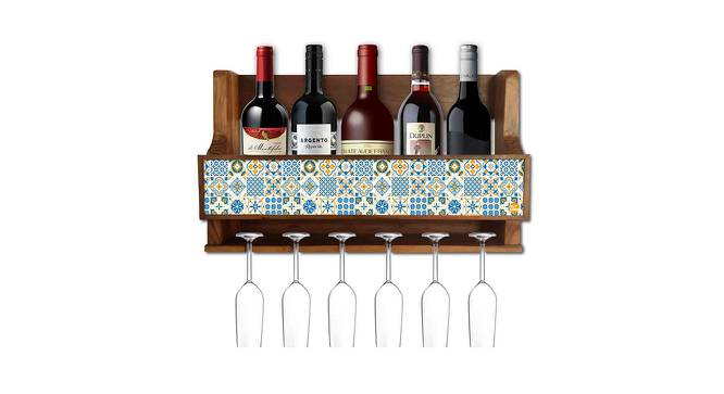 Audree Wine Rack (Matte Finish, Multicolor) by Urban Ladder - Cross View Design 1 - 354896