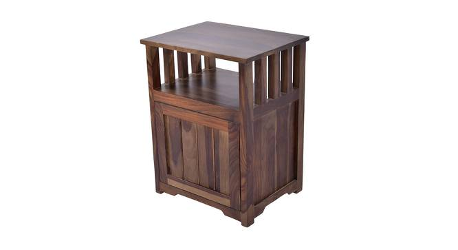 Artois Side & End Table (Walnut, Matte Finish) by Urban Ladder - Front View Design 1 - 356192