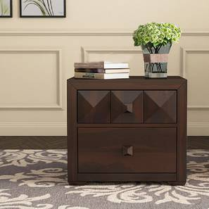 Stevie Bedside Table (Walnut) by Urban Ladder - Design 1 - 356322