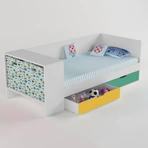 Corner Office Bed - Caribe-Caribe (Matte Finish, Caribe) by Urban Ladder - Design 1 - 356427