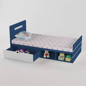 Groovy Love Bed - Electric Blue-Electric Blue (Electric Blue, Matte Finish) by Urban Ladder - Design 1 - 356473