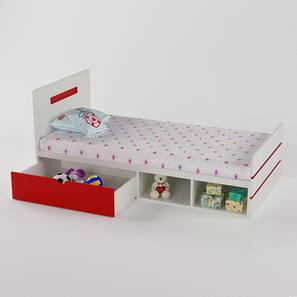 Groovy Love Bed - Red-Red (Red, Matte Finish) by Urban Ladder - Design 1 - 356476