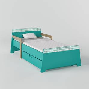 Jujube Bed-Teal (Teal, Matte Finish) by Urban Ladder - Design 1 - 356488
