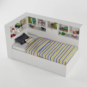 Megatron Bed-White (White, Matte Finish) by Urban Ladder - Design 1 - 356504