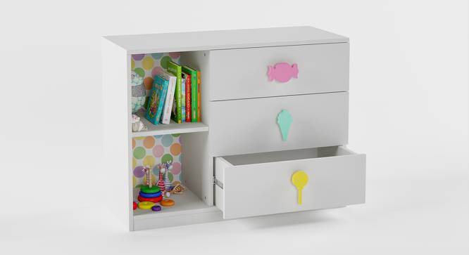 Candyland Chest of Drawers (White, Matte Finish) by Urban Ladder - Cross View Design 1 - 356638