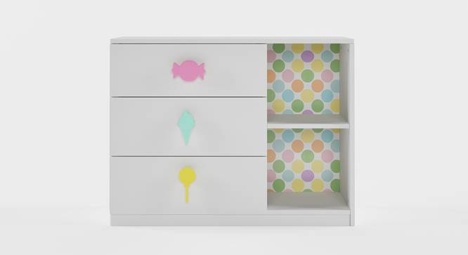 Candyland Chest of Drawers (White, Matte Finish) by Urban Ladder - Front View Design 1 - 356639