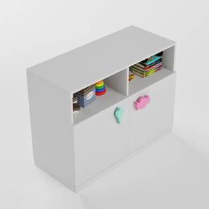 Candyland Storage Cabinet (White, Matte Finish) by Urban Ladder - Design 1 - 356648