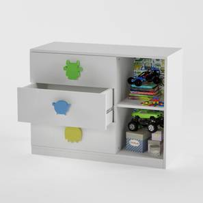 Little-Monsters Chest of Drawers (White, Matte Finish) by Urban Ladder - Design 1 - 356697