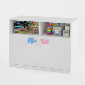 Petting Zoo Storage Cabinet (White, Matte Finish) by Urban Ladder - Design 1 - 356722