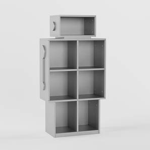 Wall-E Storage (Matte Finish, Silver Grey) by Urban Ladder - Design 1 - 356770