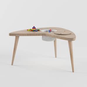 Boomerang Table Storage - Oak (Oak, Matte Finish) by Urban Ladder - Design 1 - 356816
