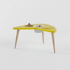 Boomerang Table Storage - Yellow (Yellow, Matte Finish) by Urban Ladder - Design 1 - 356825