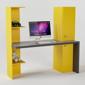 Color Block Study Table (Yellow, Matte Finish) by Urban Ladder - Design 1 - 356846