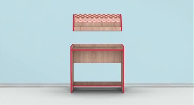 Curve Ball Study Table - Oak (Oak, Matte Finish) by Urban Ladder - Front View Design 1 - 356866