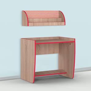 Curve Ball Study Table - Oak (Oak, Matte Finish) by Urban Ladder - Design 1 - 356869