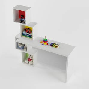 Mad Hatter Study Table (White, Matte Finish) by Urban Ladder - Design 1 - 356894
