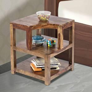 Aural Bedside Table - Teak Finish (Teak Finish) by Urban Ladder - Cross View Design 1 - 357016