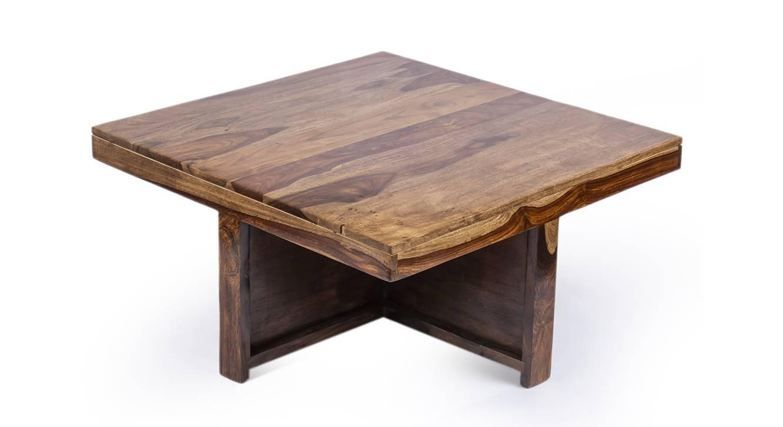 Dresden coffee table set brown sparkle velvet 7