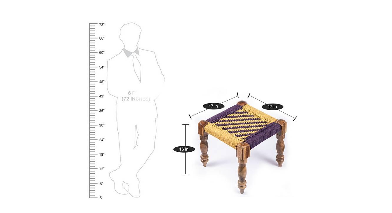 Hamilton bench and stool set purple and yellow 7