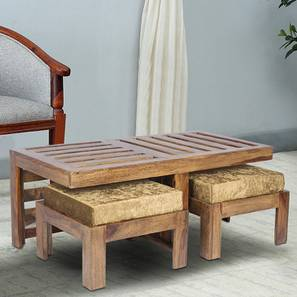 Ryan Coffee Table Set - Velvet Green (Teak Finish, Velvet Green) by Urban Ladder - Cross View Design 1 - 357815