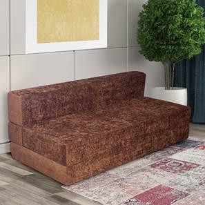 Naples Sofa Cum Bed - Brown (Brown, Brown Sparkle Velvet Finish) by Urban Ladder - Cross View Design 1 - 357904