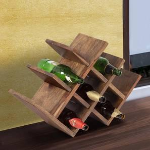 Kassel Wine Rack / Bottle Holder (Teak Finish, Teak Finish) by Urban Ladder - Cross View Design 1 - 357913