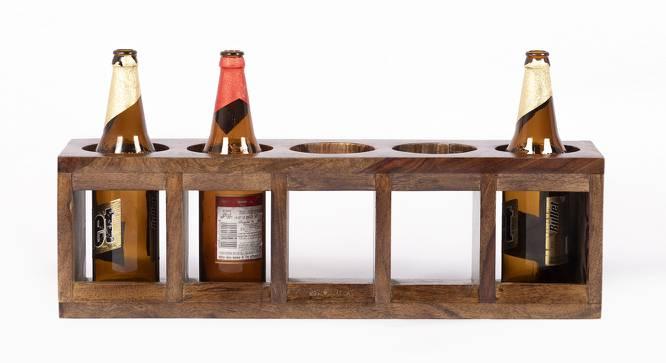 Wembley Wine Rack / Bottle Holder (Teak Finish, Teak Finish) by Urban Ladder - Cross View Design 1 - 357915
