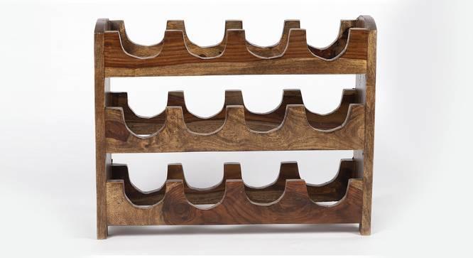 Hampton Wine Rack / Bottle Holder (Teak Finish, Teak Finish) by Urban Ladder - Front View Design 1 - 357917