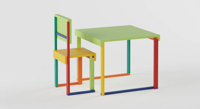 Technicolor  Study Table & Chair - Green (Green, Matte Finish) by Urban Ladder - Cross View Design 1 - 357931
