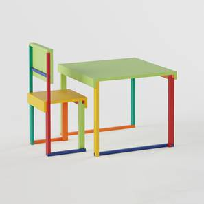 Technicolor  Study Table & Chair - Green (Green, Matte Finish) by Urban Ladder - Design 1 - 357933