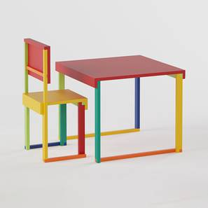 Technicolor  Study Table & Chair - Red (Red, Matte Finish) by Urban Ladder - Design 1 - 357936