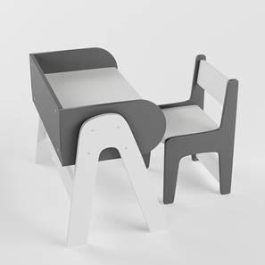 Futurama Study Table & Chair (Matte Finish, Slate Grey) by Urban Ladder - Design 1 - 357960