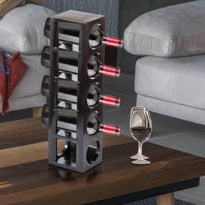 Wembley wine rack   bottle holder dark walnut finish lp