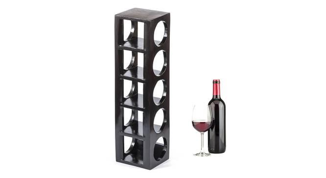 Wembley Wine Rack / Bottle Holder (Dark Walnut Finish, Dark Walnut Finish) by Urban Ladder - Cross View Design 1 - 357967