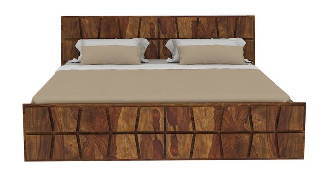 Antilles Non Storage Bed (King Bed Size, Semi Gloss Finish, PROVINCIAL TEAK) by Urban Ladder - Front View Design 1 - 358032
