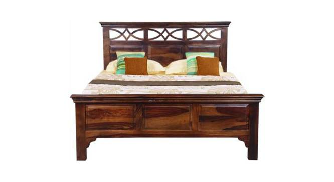 Aarohi Non Storage Bed (Queen Bed Size, Semi Gloss Finish, PROVINCIAL TEAK) by Urban Ladder - Front View Design 1 - 358039