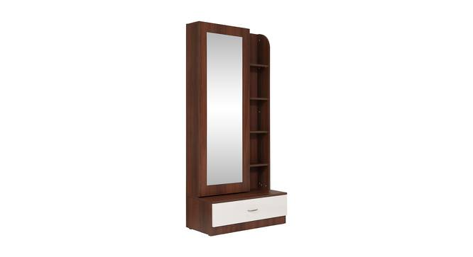 Element Dressing Table (Walnut Finish, White + Walnut) by Urban Ladder - Front View Design 1 - 358242