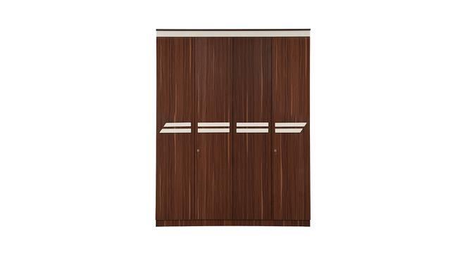 Pristina 4 Door Wardrobe (Walnut Finish, Walnut) by Urban Ladder - Cross View Design 1 - 358448