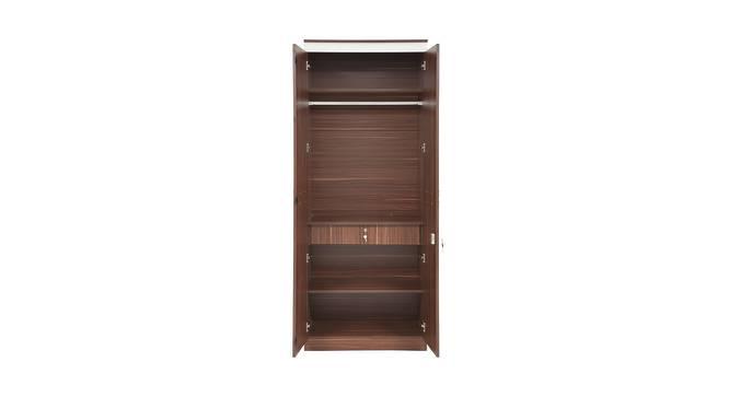 Pristina 2 Door Wardrobe (Walnut Finish, Walnut) by Urban Ladder - Front View Design 1 - 358459