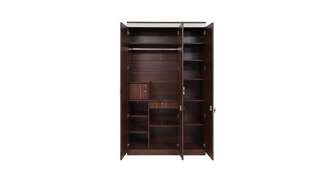 Pristina 3 Door Wardrobe (Walnut Finish, Walnut) by Urban Ladder - Front View Design 1 - 358460
