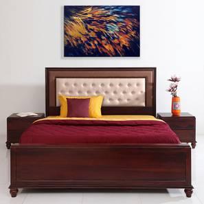 Georgia Bed With Hydraulic Storage (Walnut Finish, Queen Bed Size) by Urban Ladder - Design 1 - 358577