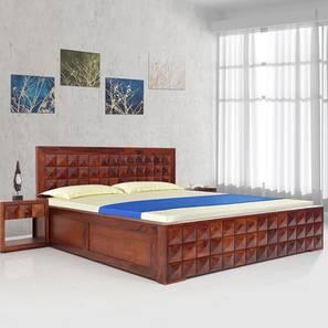 Diamond King Bed With Hydraulic Storage (Walnut Finish, King Bed Size) by Urban Ladder - Design 1 - 358580
