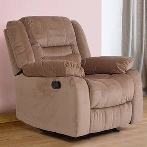 Houston Fabric Recliner Sofa 1 Seater-Light Brown by Urban Ladder - Design 1 - 358599